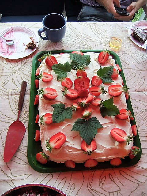 Midsummer Strawberry Cake