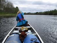 Canoeing on the Klarälven River in Värmland, Sweden.