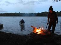 Canoeing in Skåne, southern Sweden.