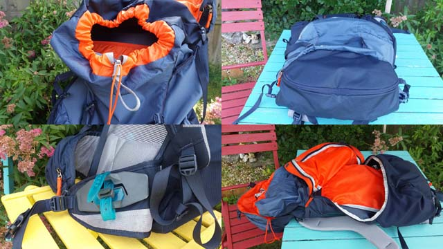 Features of the Thule Capstone 50l backpack.