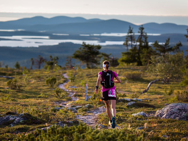 Trail run in Pallas, northern Finland. Photo: Aapo Laiho, Finland Photo.