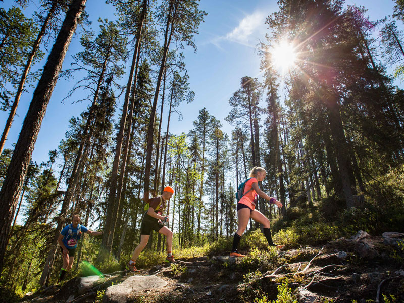 Running in Karhunkierros, Finland. Photo: Aapo Laiho, Finland Photo.
