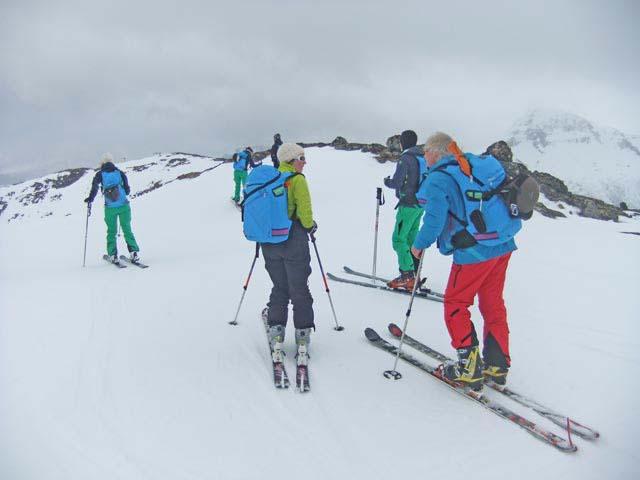 Alpine ski touring.