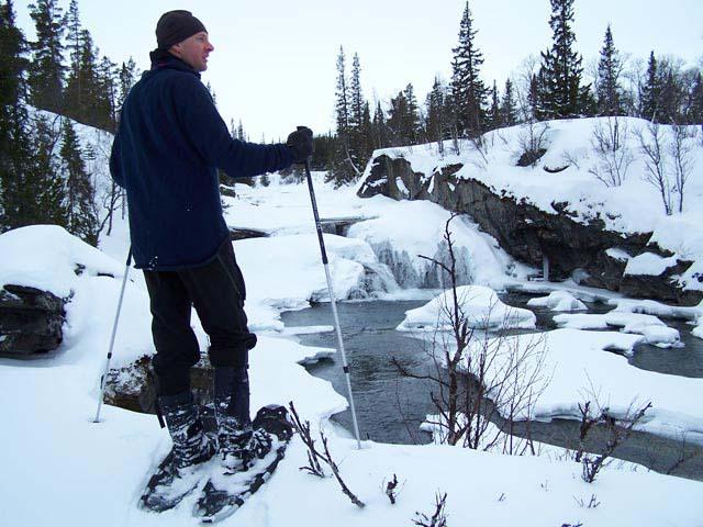Out on a snowshoe tour.