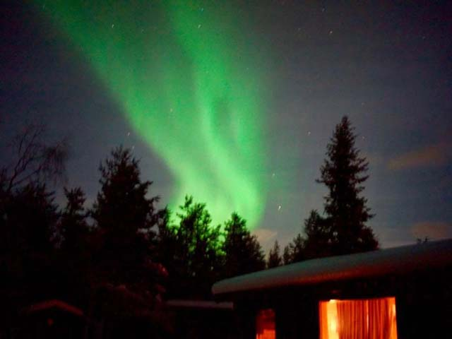 Aurora display in Swedish Lapland.