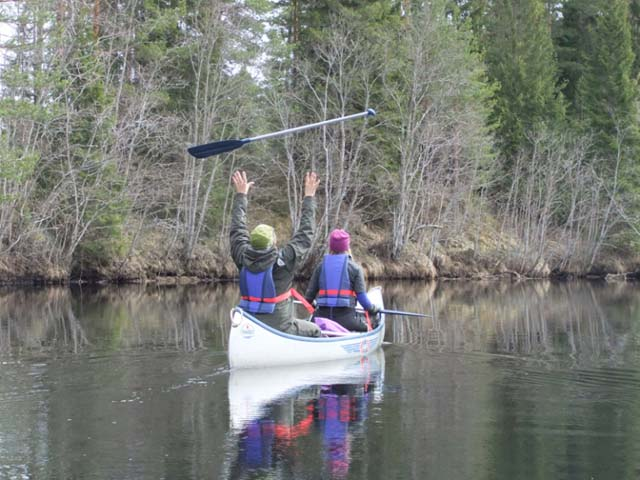 Canoeing in the early part of the season can be a joyous experience!