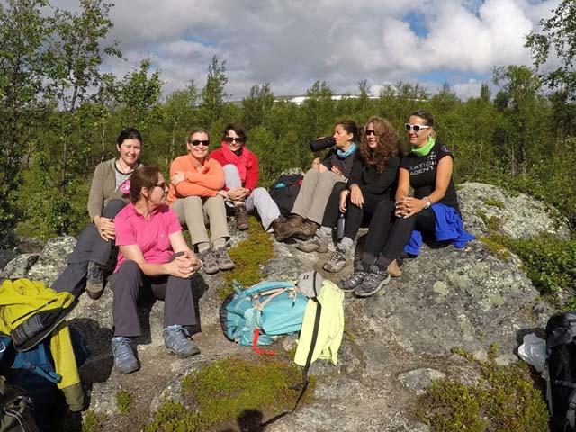 Hiking in Swedish Lapland.