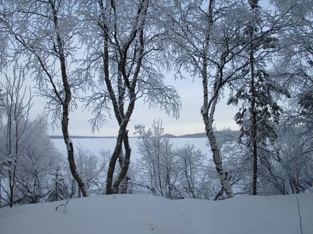 Much of Finland lies under a blanket of snow in wintertime.