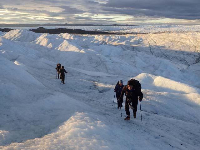 Ice cap trekking!