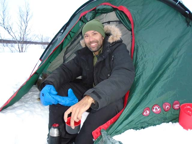 Waking up to a winter wonderland after a night under canvas is a very special experience.