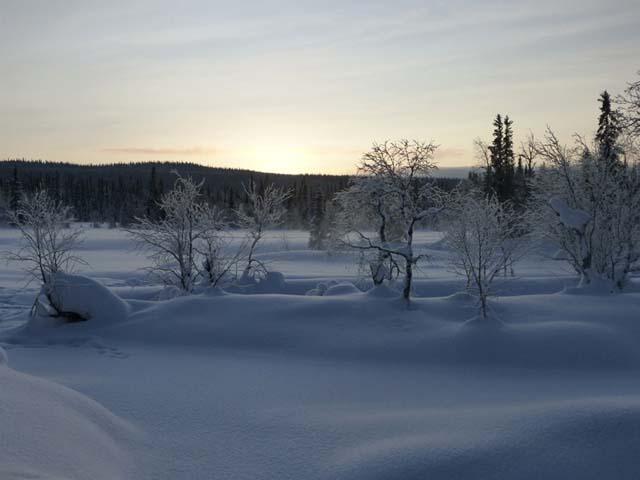 The beautiful winter mountain landscape.