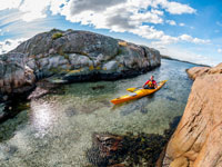 Kayaking in Bohuslän, West Sweden