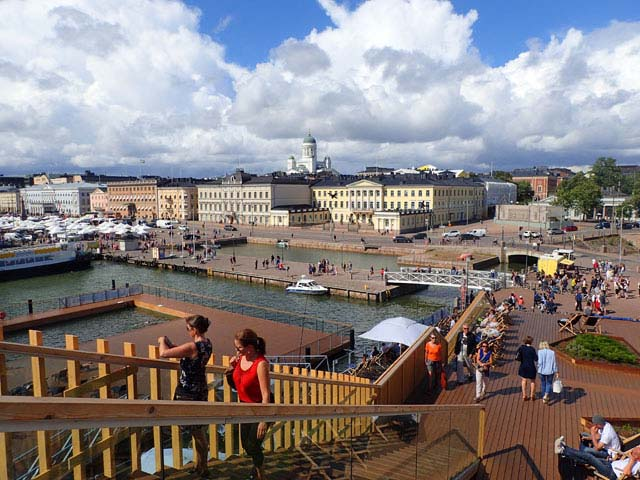 The public bathing area in Helsinki is a wonderful place to people-watch and enjoy the sun.