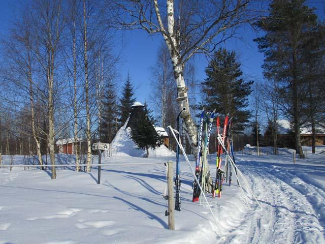 Ski equipment for the tour.