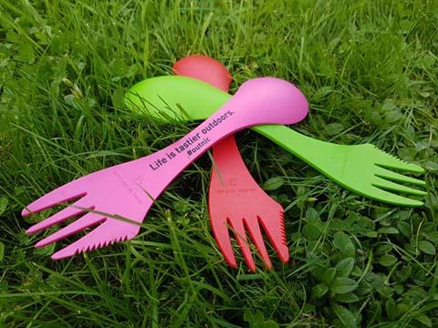 Is it a spoon? Is it a fork? Is it a knife? Yes! It's a spork!