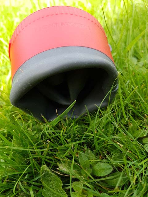 The collapsible cup is a great space saver, but be careful when using the cup with hot liquids.