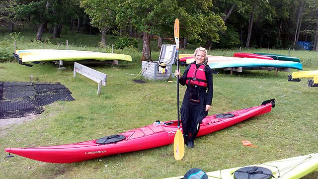Getting ready for a paddle adventure in the Stockholm Archipelago: