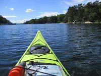 Kayaking in the Stockholm Archipelago.