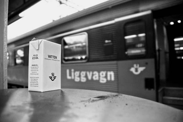 Night train in Sweden.