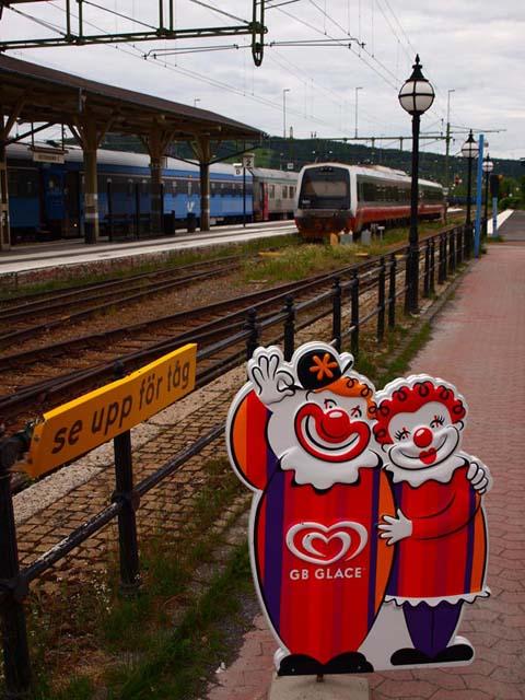 Platform at Swedish train station.