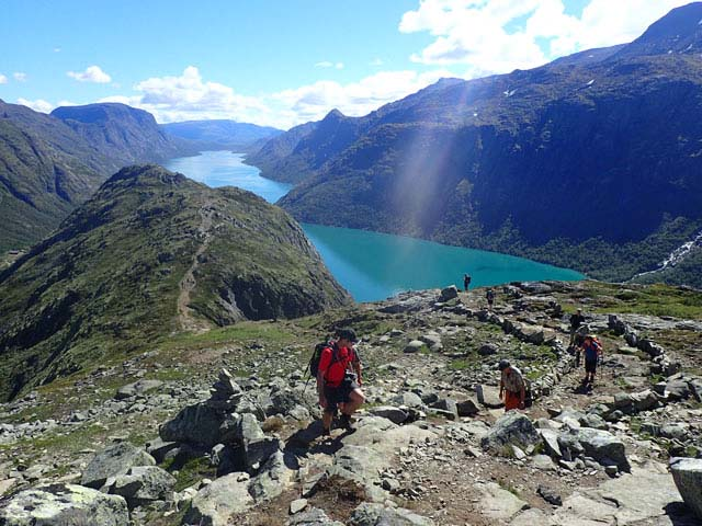 Hiking Besseggen and Jotunheimen National Park.