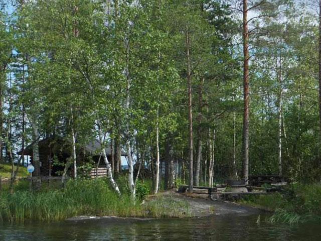 Wind shelter on Lake Saimaa