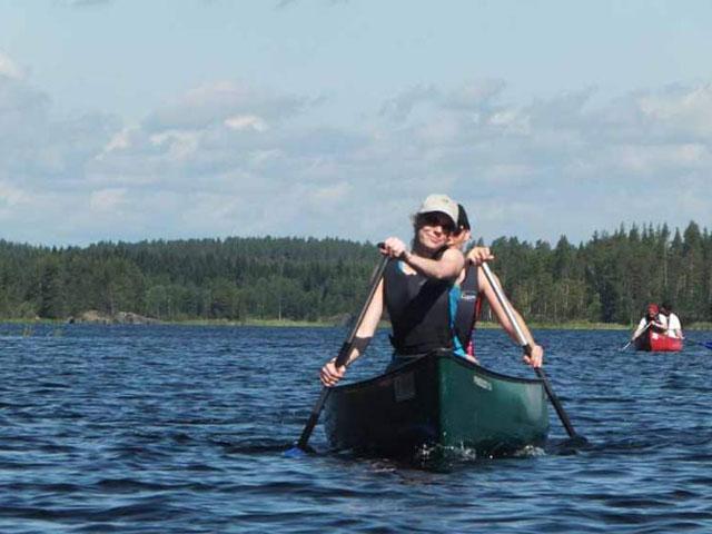 Canoeing on Lake Saimaa