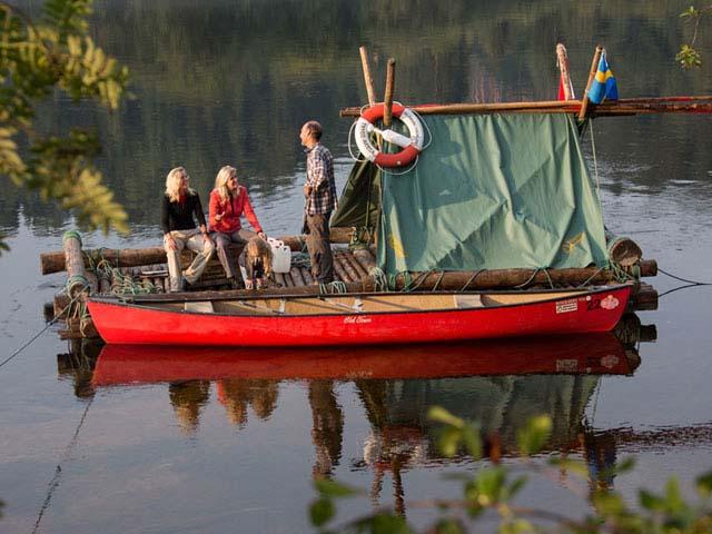 Timber Rafting on Klarälven. Photo: Wolfgang Fuchs.