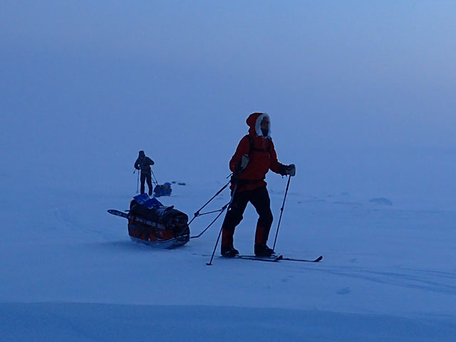 Backcountry Skiing and Northern Lights in Finnish Lapland: Photo: Remko Jonkergouw.