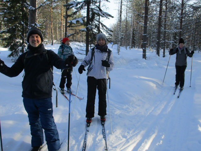 Cross Country Skiing in Eastern Finland. Photo: Nature Travels.