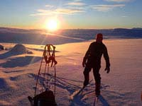 Ski touring to Halti in Finnish Lapland.