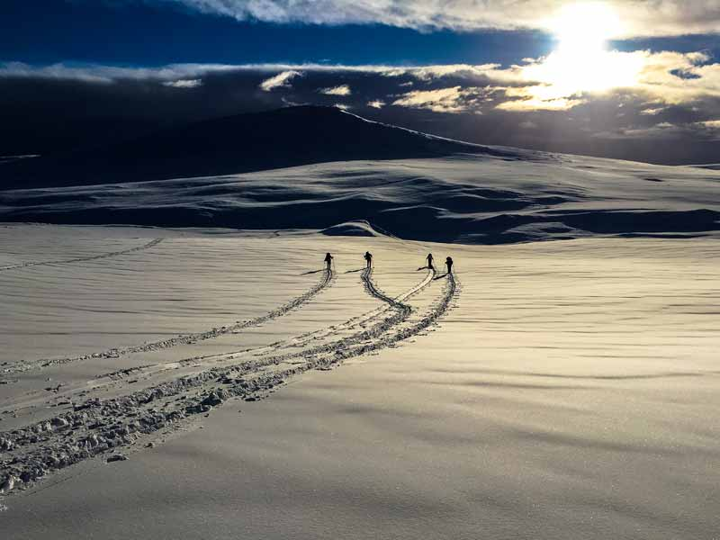 Introduction to Backcountry Skiing in Langsua National Park. Photo: NF.