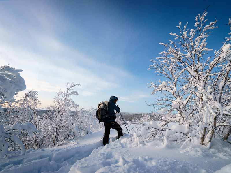 Backcountry Skiing and Northern Lights in Finnish Lapland. Photo: WH.
