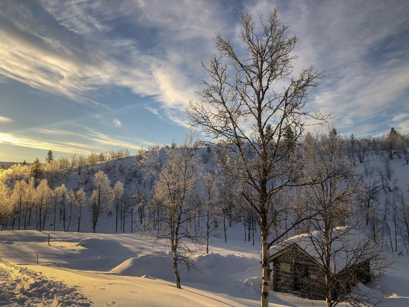 Sunshine and snow - what's not to like? Photo: Mark Schofield.