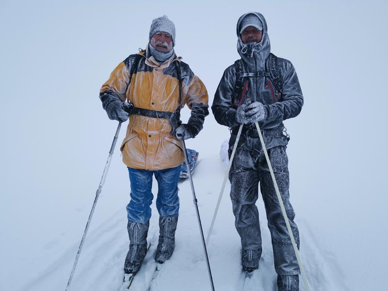 There's no such thing as bad weather, only bad clothes. Photo: Roland Meier.