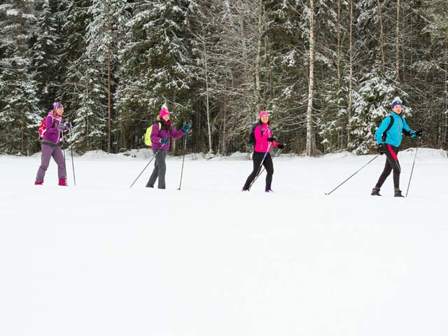 Cross Country Skiing in Eastern Finland.