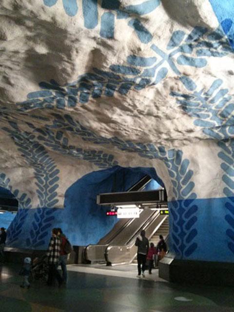 Stockholm underground art