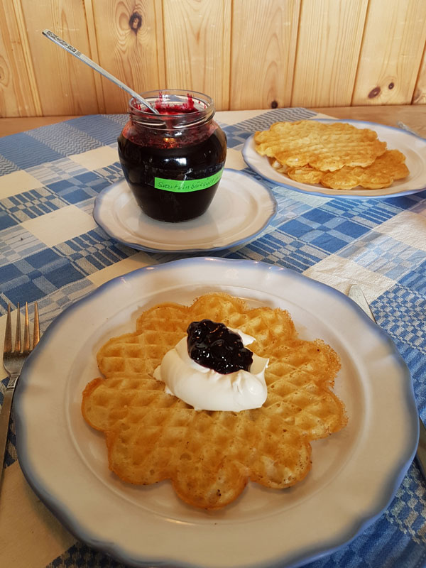 No Swedish summer is complete without waffles! Photo: Nature Travels.