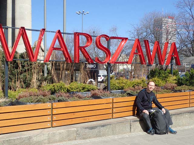Exploring the delights of Warsaw in early spring.