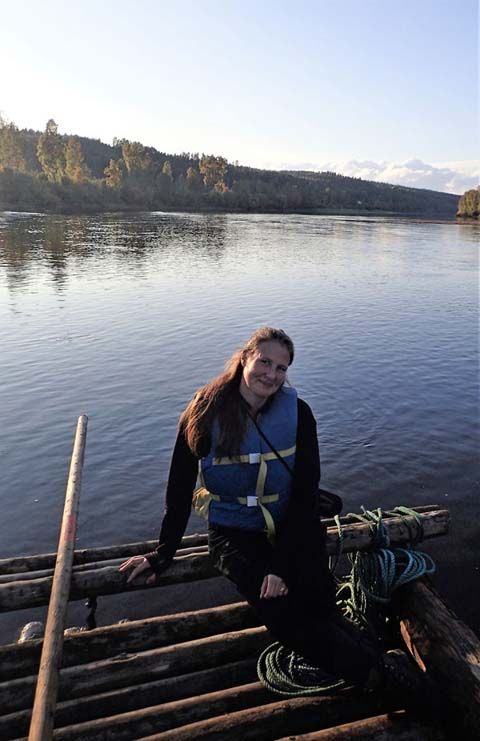 Sofia from the Nature Travels team built her first timber raft as a Scout in Sweden!