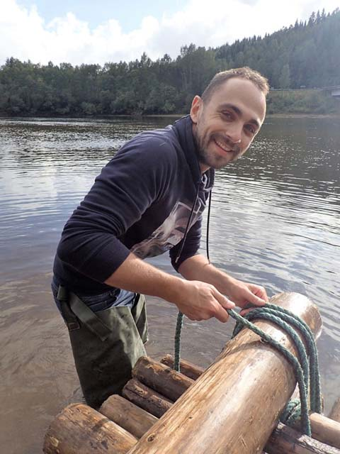 Building a timber raft can be hard work, but it's great fun!