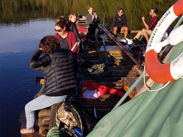 Timber rafting can be great for groups and is very much a teamwork activity.