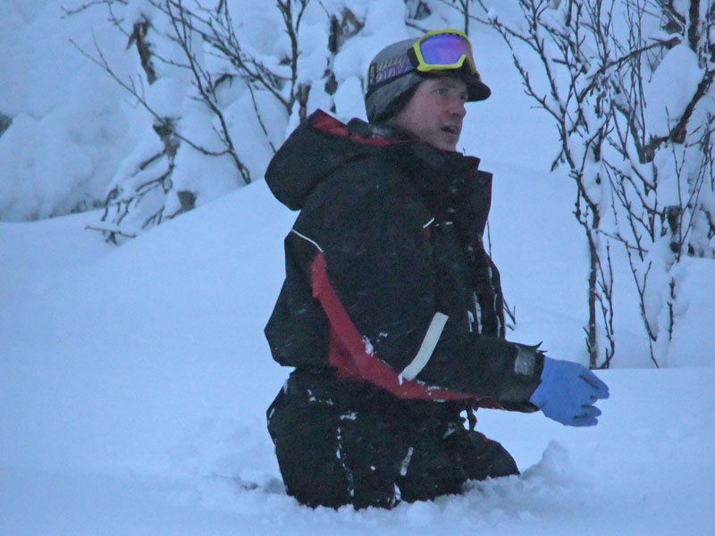 In deep snow, even a trip to the loo can be an adventure! Photo: Nature Travels.