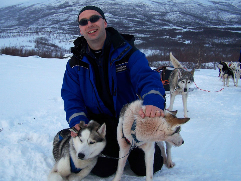 Me and my husky team! Photo: Nature Travels.
