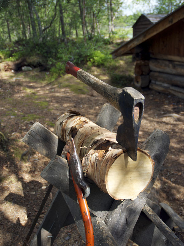 Firewood is provided, but you need to work for it! Photo: Euan Turner Dmh Photo.