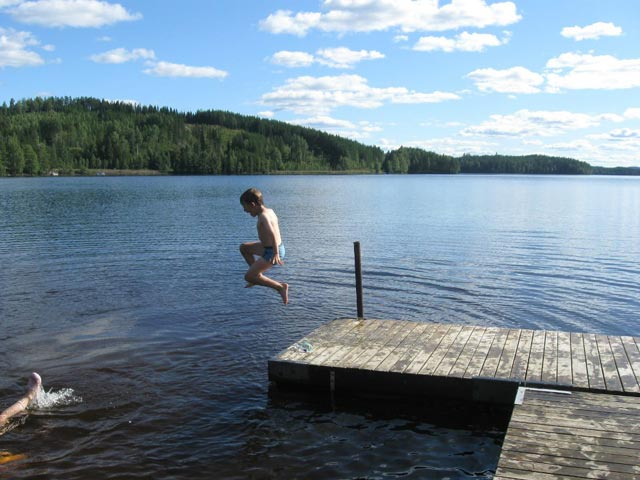 Most children in the Nordic countries will grow up swimming wild from an early age.
