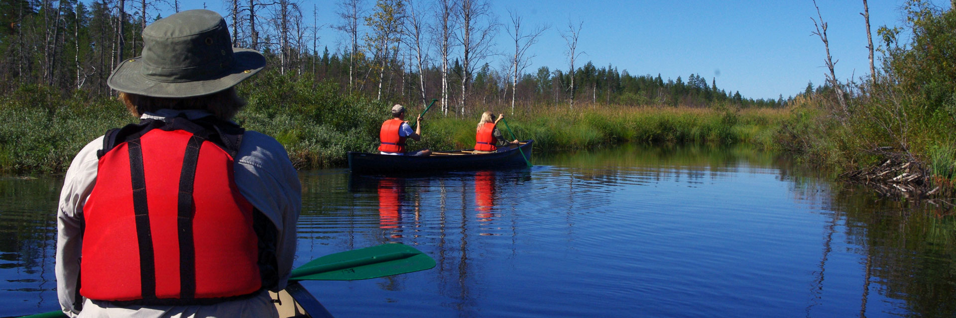 Canoeing on the Tar Route in Kainuu