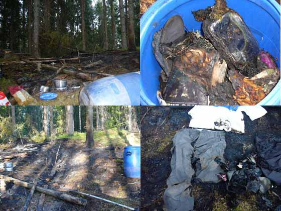 Risks and dangers with fires when wild camping