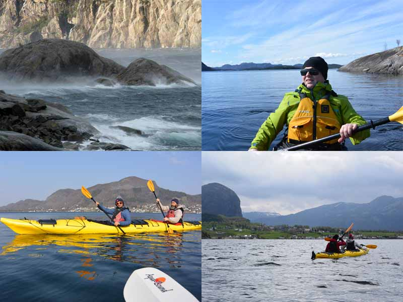 Challenging conditions for kayaking on Lysefjord
