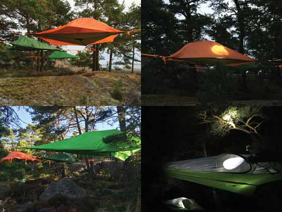 Tree Tents for Discover Sea Kayaking in St Anna and Gryt